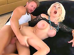 Milf, Big cock, Orgasm, Muscle, Screaming, Scream