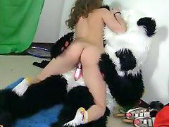 Teen, Sport teen, Funny, Panda, Panda fuck, Sport sex