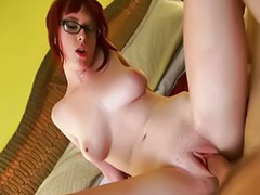 Riding, Big dick, Nympho, Nerdy, Riding dick, Riding big dick