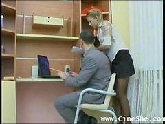 Amateur, Russian, Secretary, Russ, Amateur secretary, Very hot