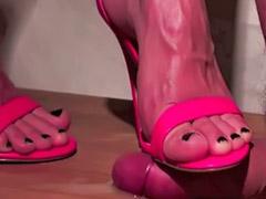 Femdom, High heels, Shoejob, Heels