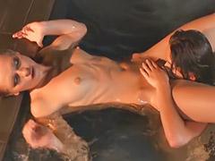 Lesbian asian, Lick me, Lesbian outdoor, Pool sex, Pool lesbians, Pool lesbian