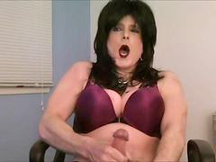 Crossdresser, Jerking, Crossdress, Crossdressing, Jerk off, Crossdressers