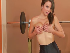 Gym, Morgan, Shaved solo, Asian gym, Workout, Alena