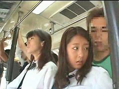 Bus, In bus, Innocent, Schoolgirl, Grope, Groped