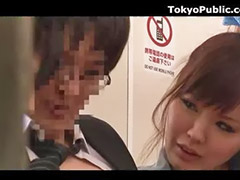 Japanese, Public japanese, Japanese threesome, Two horny girls, Two girls sexing, Two girl sex