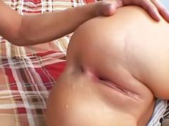 Big ass blonde, Ass cream pie, Vaginal cream, Screwed anal, Masturbation cream, Oral cream pies