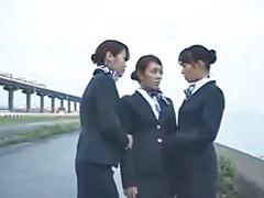 Japanisch lesbisch, Lesben drei, Mädchen lesbisch, Mädchen lesbisch küssen, Dreier küssen, Drei lesben girls
