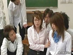 Japanese teacher, Abuse, Japanese, Japanese bus, Teacher