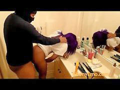 Public, Emo, Bend, Bending over, Public bathroom, Public ebony
