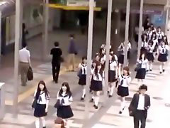School girl, Bus, Japanese, Japanese bus