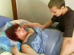 Bbw, Mom son, Mom and son, Russian, Mom