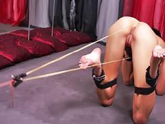 Spanking, Bondage, Spank, Small tits, Lesbian bondage