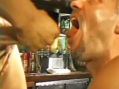 In bar, Bar, Gay wank, Gay deepthroat, Wank gay, Deepthroat anal