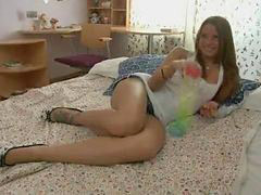 Fed, Teens double, Teen whores, Stuffing, Double teen, Double stuffed