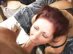 Pee, Peeing, Tiffany mynx, Mynx, Redhead blowjob, Big tits facial