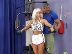 Gym, Mom asia, Mom sex