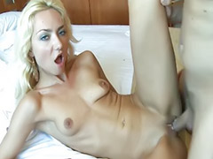 Cum in mouth, Small cock, Big ass blonde, Cum in her ass, Want cock, Shaved cock cumming