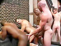 Bareback group, White fucks black, White group, Rough fuck, Rough fucking, Rough fucked