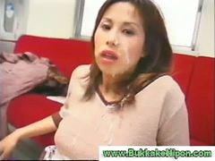 Bukkaker, Cum bukkake, Asian amature, Remaja