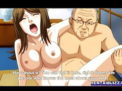 Hentai, Big busty tits, Big busty, Fuck with boss, Big tits hentai, With couple