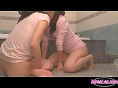 Asian, Kissing, Bathroom, Kiss