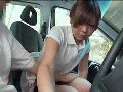 Car, Schoolgirl, Shy, Shy schoolgirl, Molested, In car
