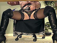 Under desk masturbation, With boots, Secretary stocking, Secretary masturbate, Masturbate desk, Desk stockings