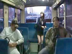 Gangbang, Japanese, Bus, Girl