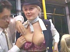Public, Bus, Handjob, Stewardess