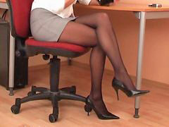 Secretary, Black, Pantyhose