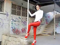 Latex, Leggings, Legging, Red r, Red latex, N latex