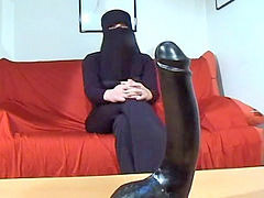 Arab, Dildo, Arabic, Huge, Huge dildo, Insertions