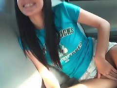 Car, Teen, Public, Flashing