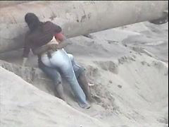 Latinos, Playa lo pillan, Pillada en la playa, Pareja lo pillan, Lo pillan, Playa latinos