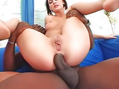 Teen anal, Black anal, Interracial anal, Black, Threesome, Interracial