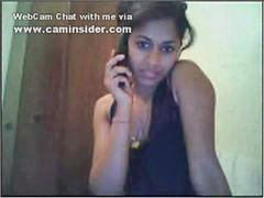 Indian, On the phone, Show tits, One finger, Tit show, Phones