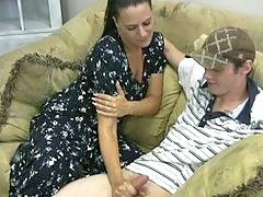Mother, Handjob, Horny