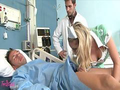 Nurse, Guy and guy, Shawna, Sexy blonde, Sexy blond, Sexy- blonde