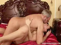 Young, Teen, Kissing, Daughter, Grandpa, Fuck