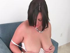 Mature masturbation, Asian mom