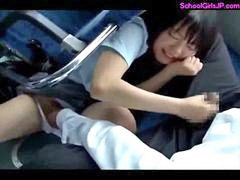 Bus, Facial, Schoolgirl, Schoolgirl gets fucked, Facials, Schoolgirl bus