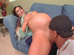 Pregnant, Interracial anal