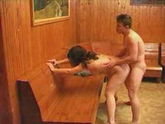 Mom and son, Mom, Sauna