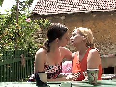 Daughter, Hairy lesbians, Lesbian, Young, Hairy lesbian, Mature