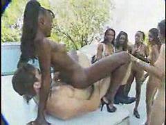 Limo, Full naked, Ebony naked