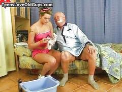 Opa und mädchen, Mädchen niedlich