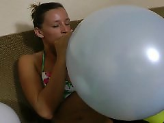 K pop, In face, Blow in, Big pops, Big face, Balloon blowing