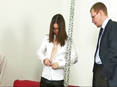 Bondage, Asian stockings, Asian spanking, Spankin, Boss bondage, Stocking fetish