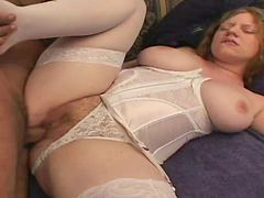 Creampie, Pink, Hairy creampie, Natural tits, Pale